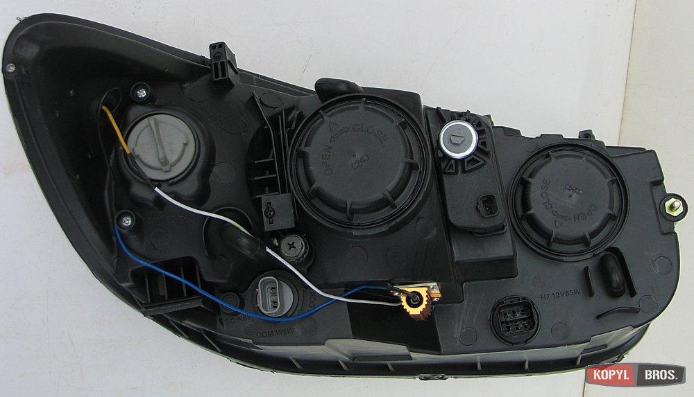 Альтернативная оптика на Hyundai Santa Fe передняя хром, Светодиодные фары на Hyundai Santa Fe передние хром, купить в Днепропет